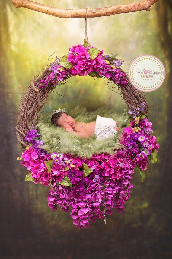 Baby Flower Nest Photography Prop Newborn by PMPDreamCatchers ...