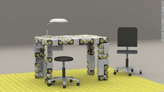 Costruzione mobili ~ Robot furniture that builds itself cnn mobili tecnologia