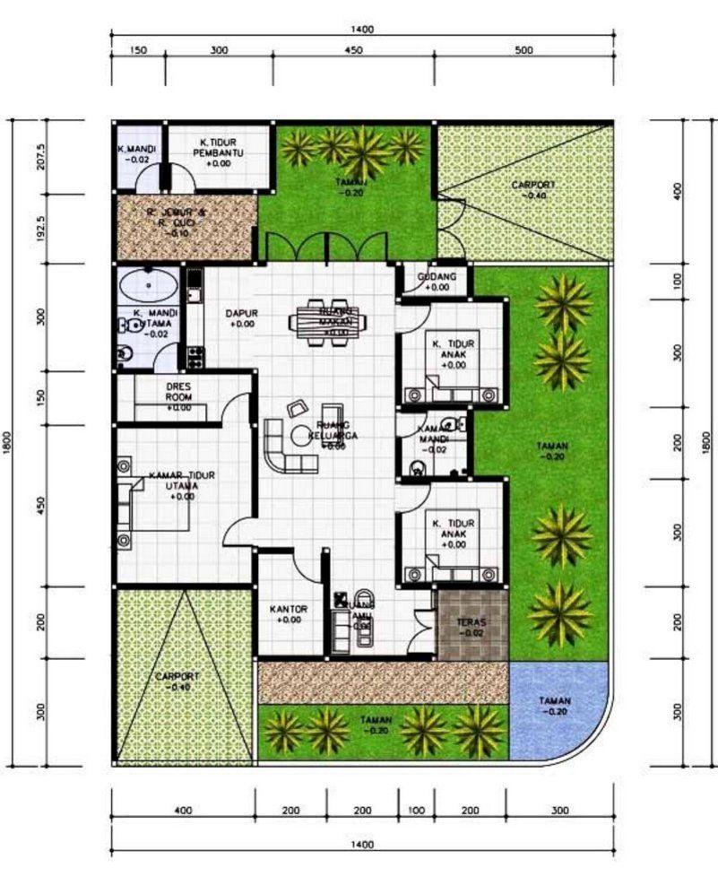 Denah Rumah 7x15 : denah, rumah, Denah, Rumah, Kamar, Rumah,, Minimalis,