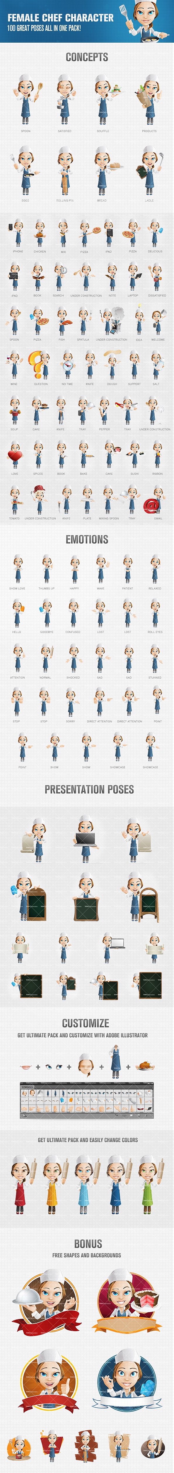 female chef cartoon character cartoon character design and