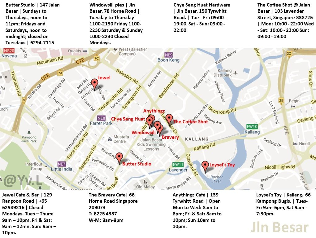 Cafes In Jln Besar Locations Opening Hrs Coffee Shot Cafe Singapore
