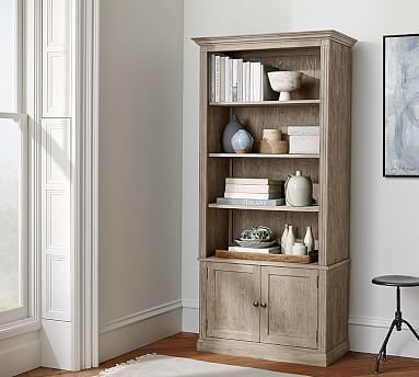 Livingston Bookcase Potterybarn Modern Home Office Furniture