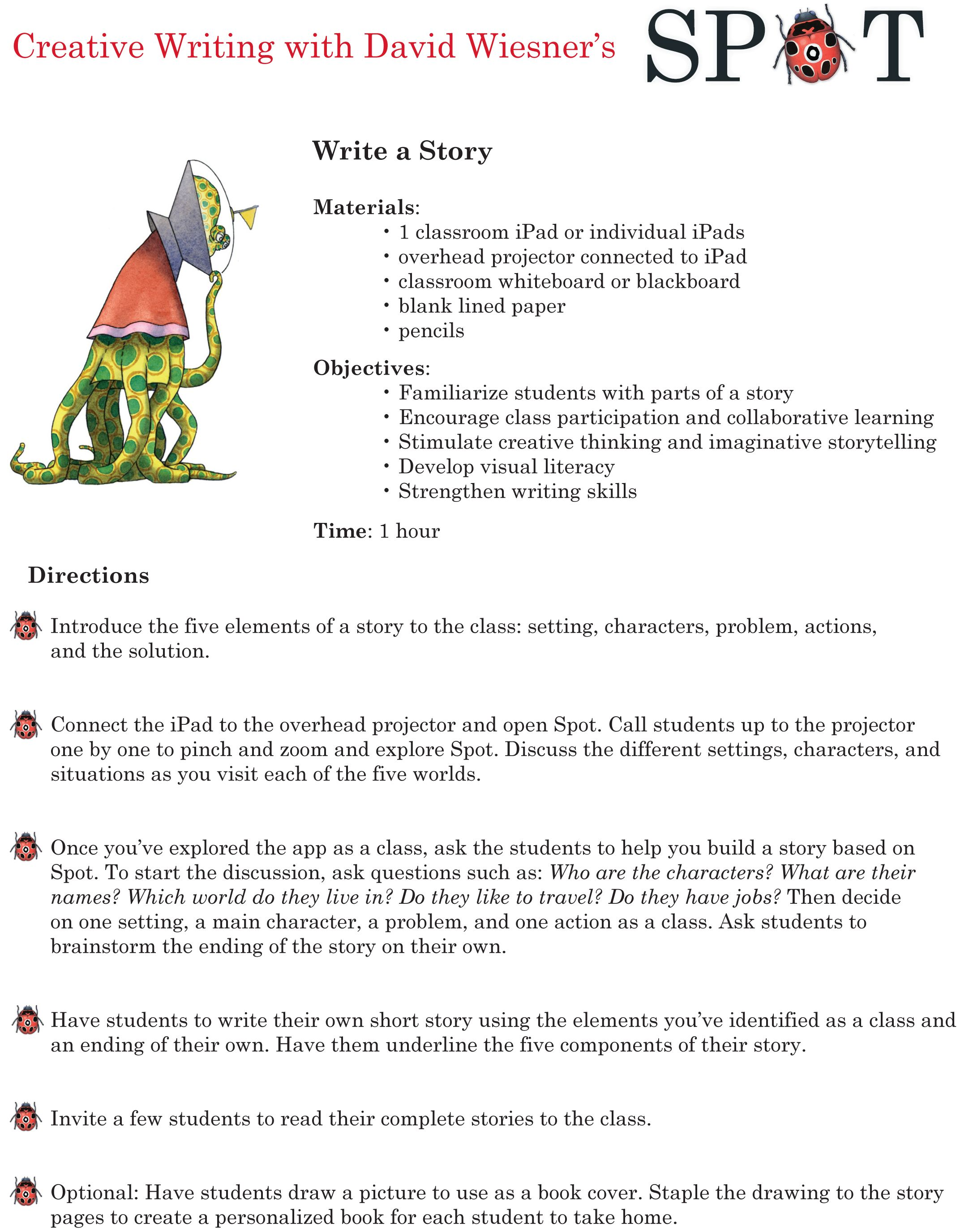 Creative Writing Lesson Plan with David Wiesner's Spot