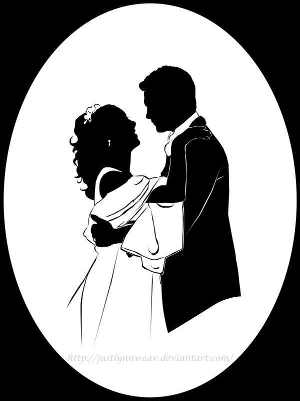 wedding portrait silhouette by justlynnweav on deviantart silhouettes stencils pinterest. Black Bedroom Furniture Sets. Home Design Ideas