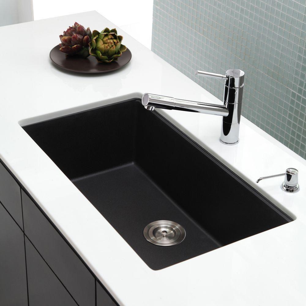 Kraus Undermount Granite Composite 32 In Single Basin Kitchen