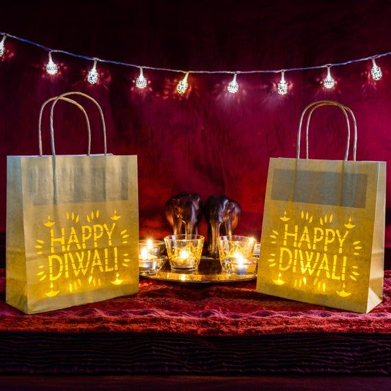 Diwali decorations Paper Lantern bag - event decor