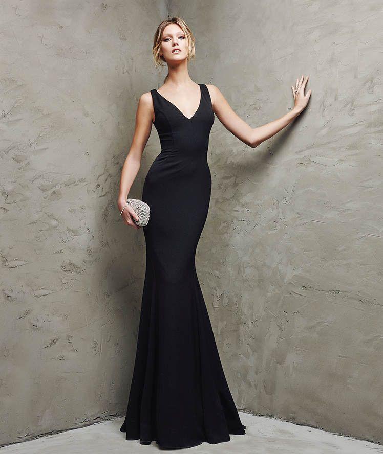 Vestido de crepe de fiesta Lacor Pronovias 2016 vestido