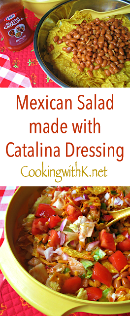 Granny's Recipe! Mexican Salad made with Catalina Dressing {Perfect for July 4th!}