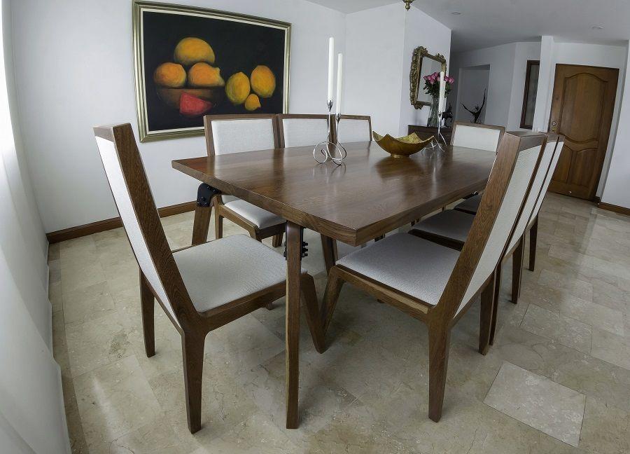 Madera y Metal: La infalible combinación de ARZA. Mesa de comedor ...