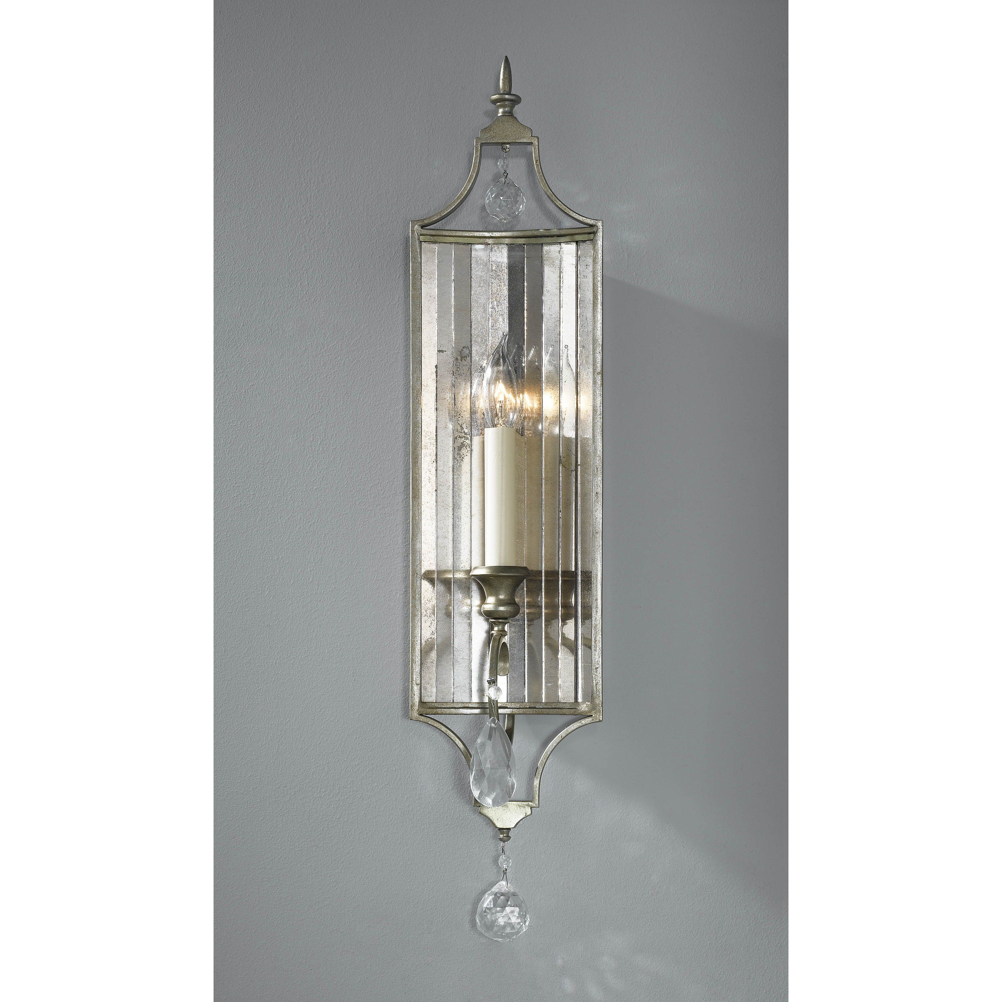 Feiss gianna wbgs wall fixture gilded silver from hayneedle