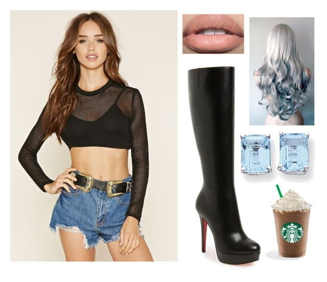 """""""Sem título #563"""" by nathaliabello on Polyvore featuring moda, Forever 21, Christian Louboutin e Kevin Jewelers"""