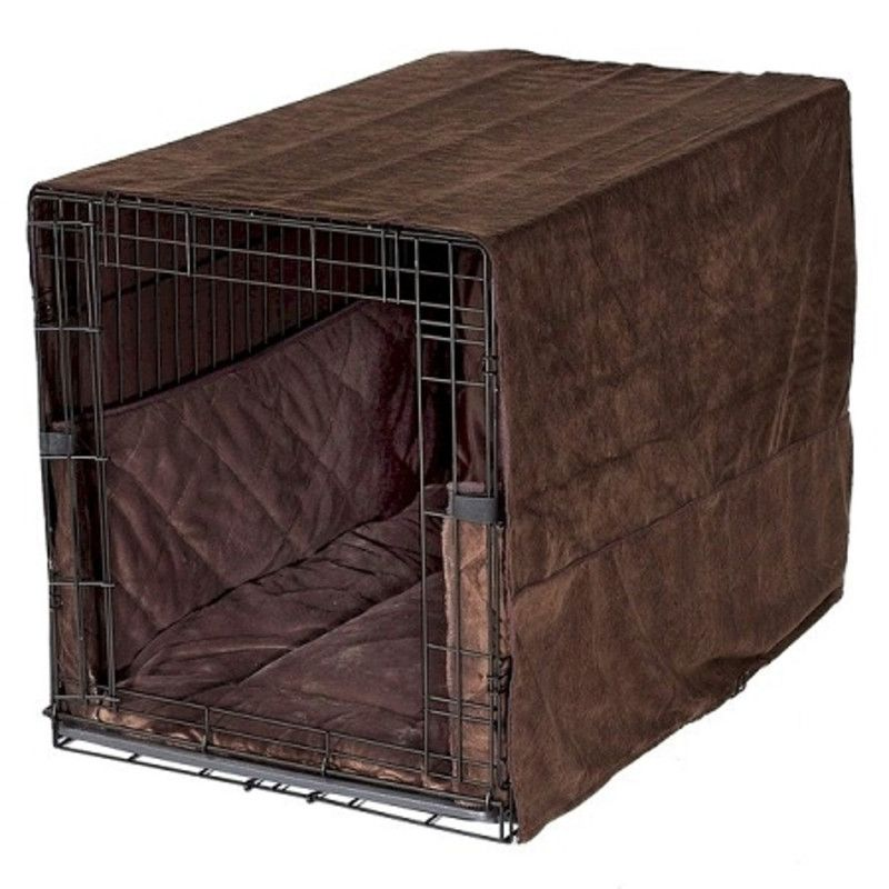 Pet Dreams Plush Dog Crate Cover