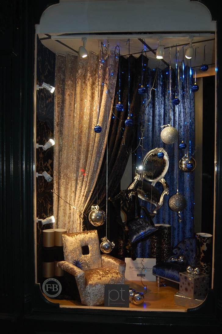Lavish Window Display By Dickinson S Furnishers Using Our