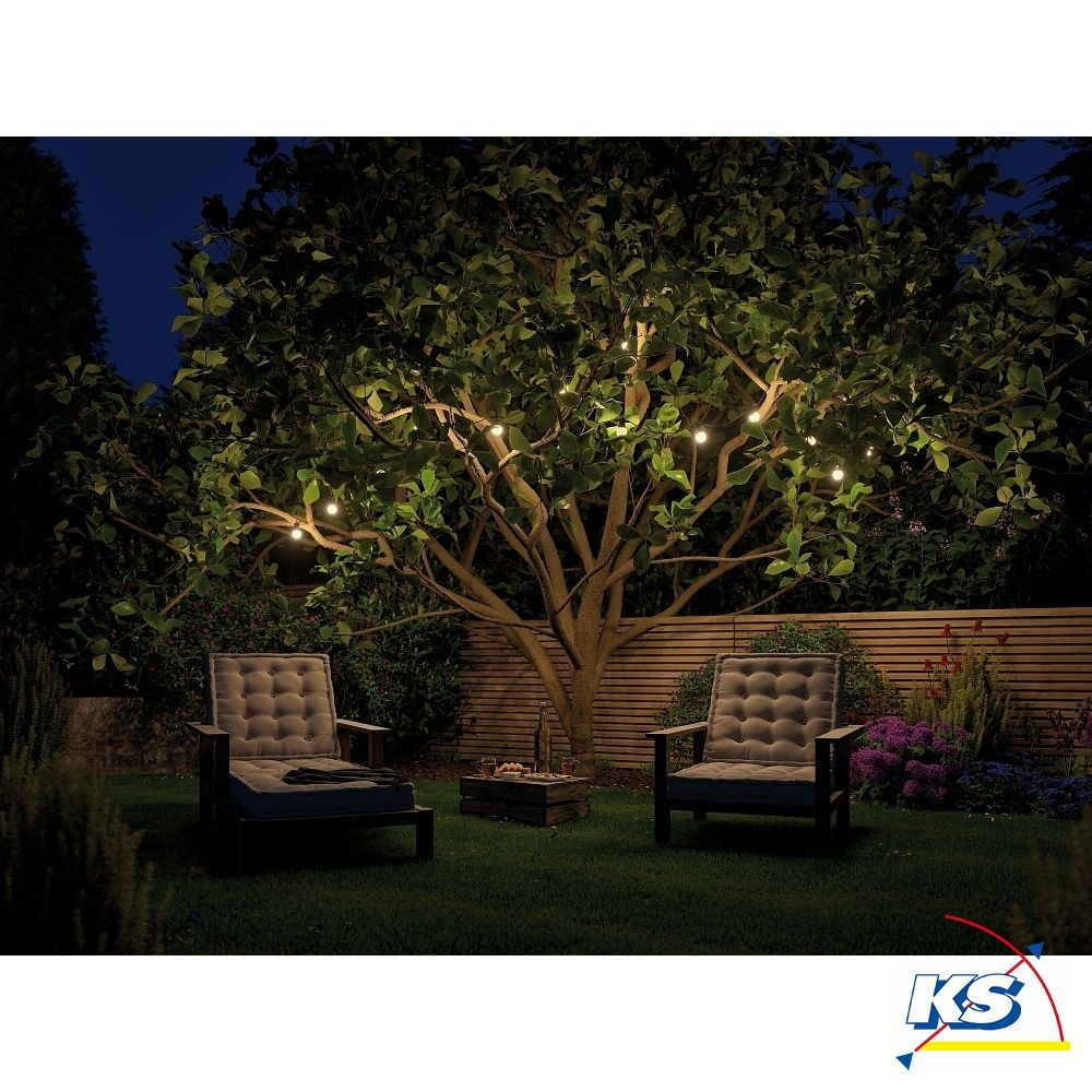 Paulmann Plug Shine Lichterkette Ip44 3000k 24v Mit 7 Lampen Paulmann In 2020 Aussenbeleuchtung Garten Beleuchtung Garten Gartenbeleuchtung
