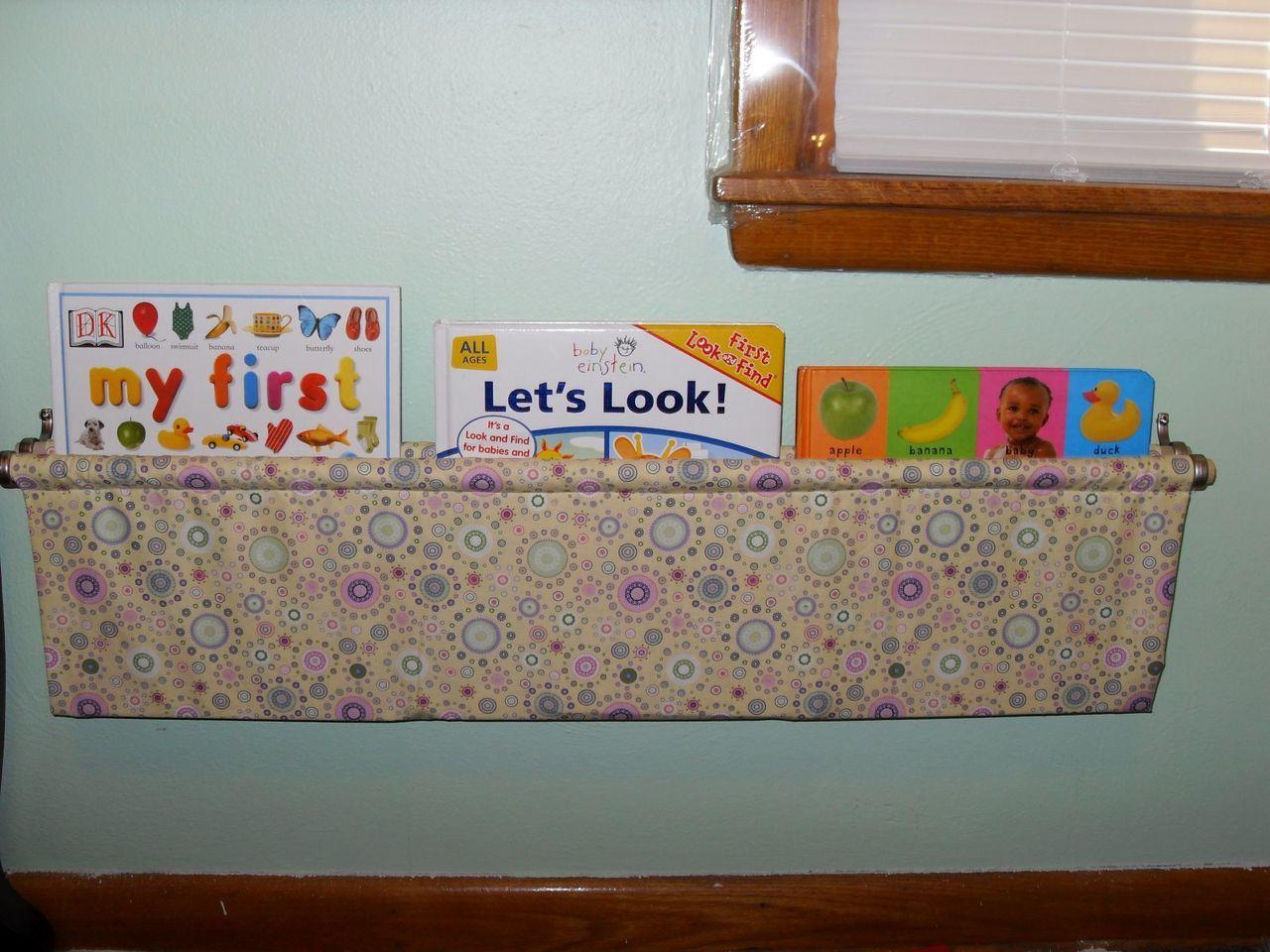 Fabric Bookshelf With A Tutorial