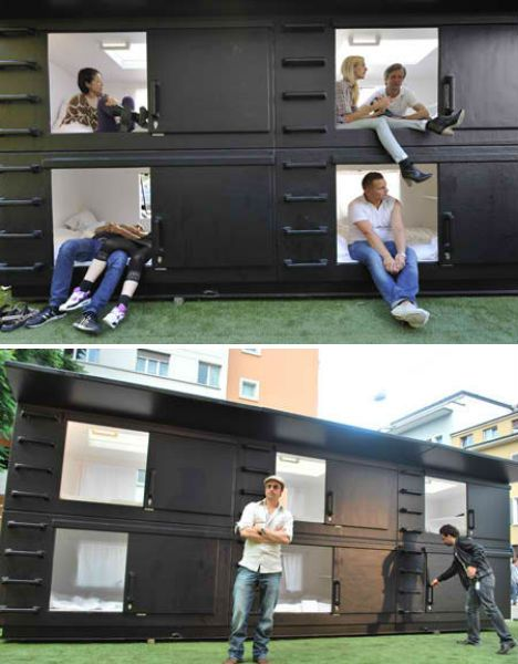 Box Beds Homeless Housing Tiny House Design Pod Hotels