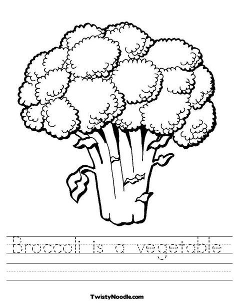 Broccoli is a Vegetable Tracing Worksheet | Thanksgiving/Food Themed ...