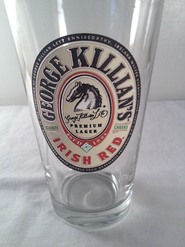 George Killians, Irish Red, pint beer glass, 6in
