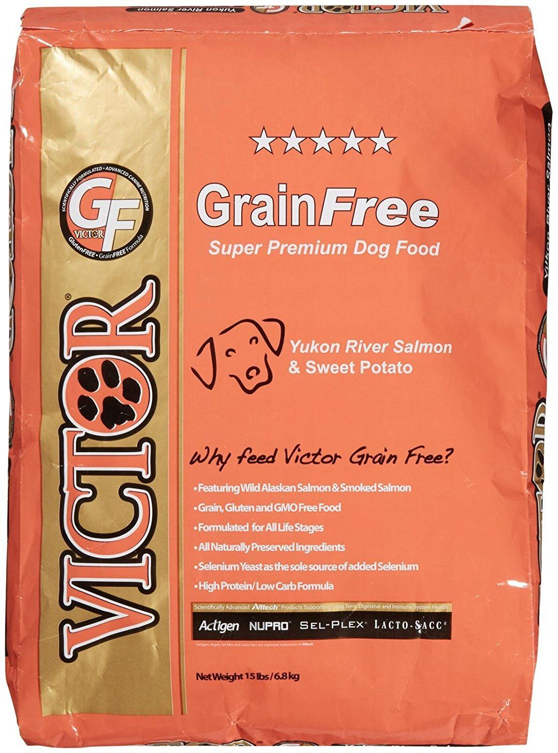 Victor Dog Food GrainFree Yukon River Canine Salmon and