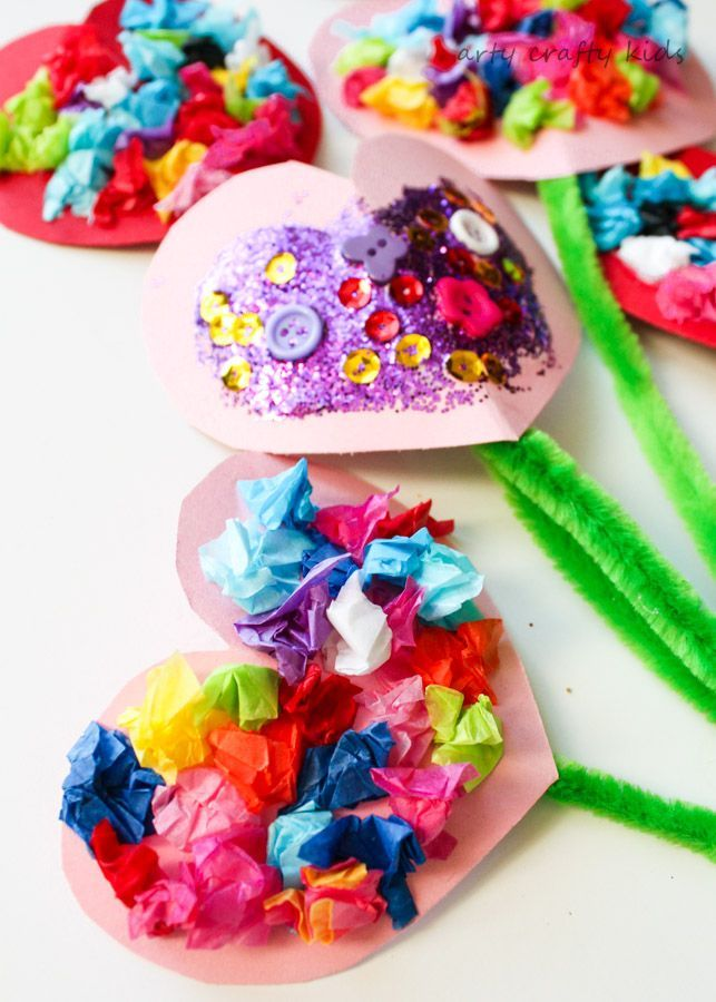 Toddler Valentines Heart Bouquet | Arty Crafty Kids