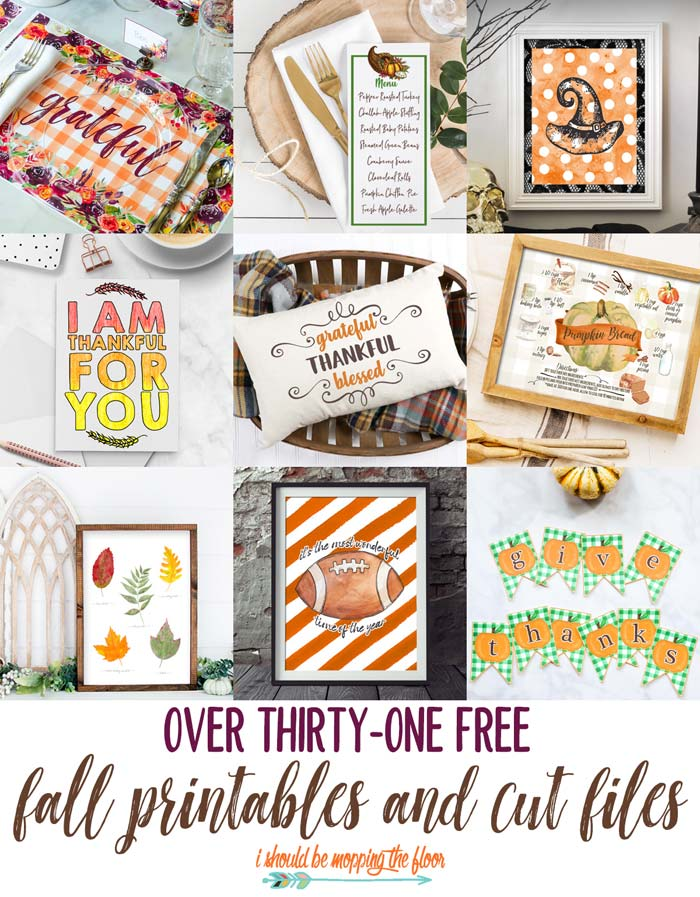 31 Free Fall Printables All Exclusive To I Should Be Mopping
