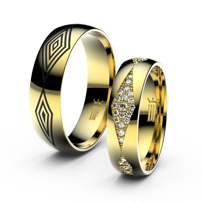 Danfil Diamonds Wedding Rings In Yellow Gold With Diamonds Www