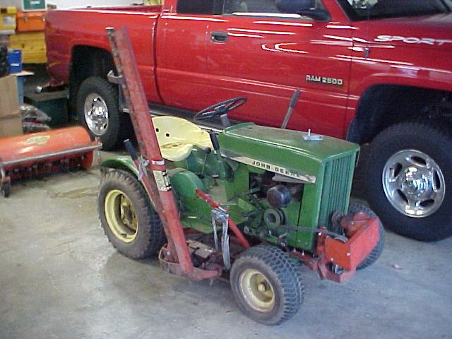 1965 John Deere Garden Tractor with Haban Sickle Bar Mower | A few