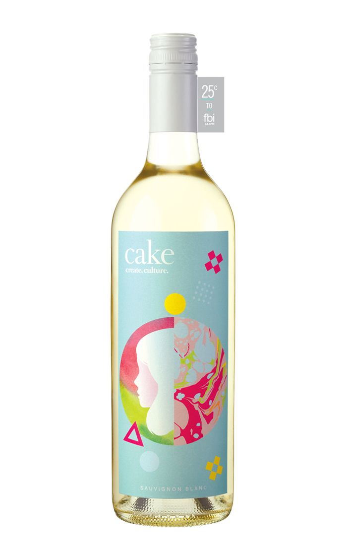 the amazing beci orpin has done it again. beautiful label for cake wines. #BeciOrpin #WIneLabel