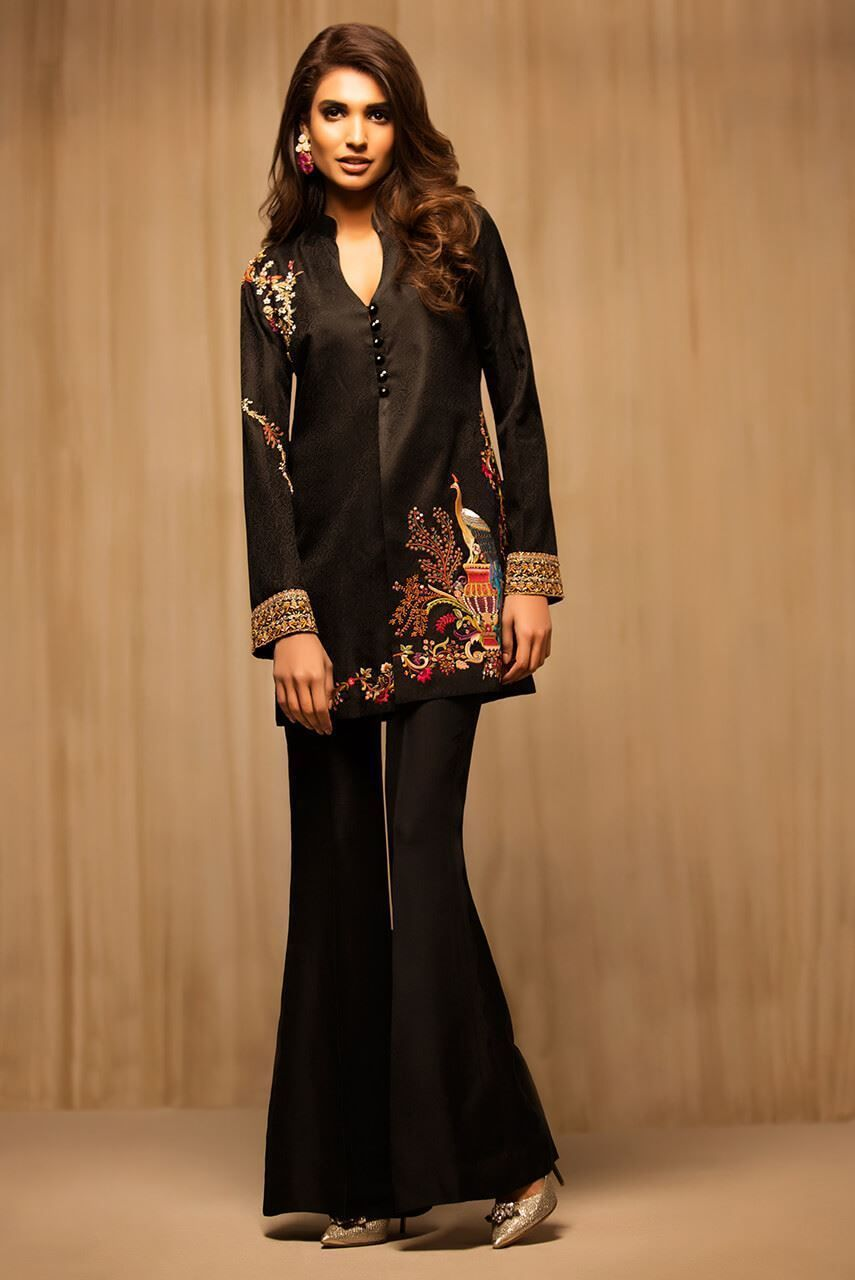 Picture of Jamawar Hand Embroidered Coat | Latest ...