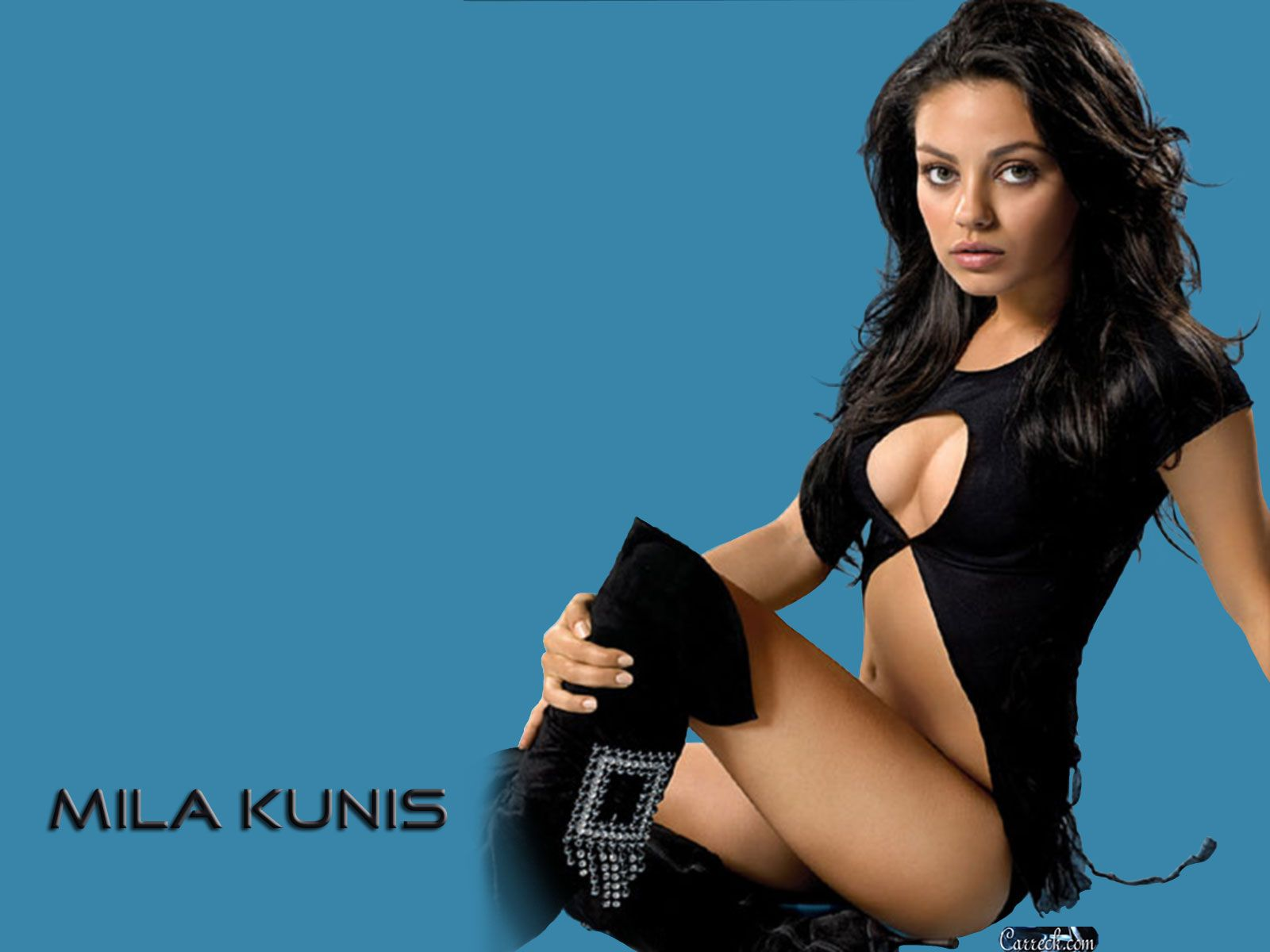 Mila kunis naked with legs in the air — photo 14