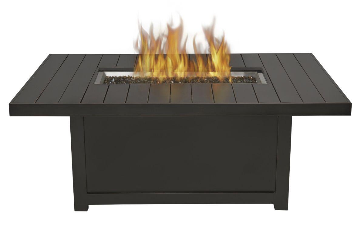 Napoleon gourmet grills rectangular outdoor fire table napoleon