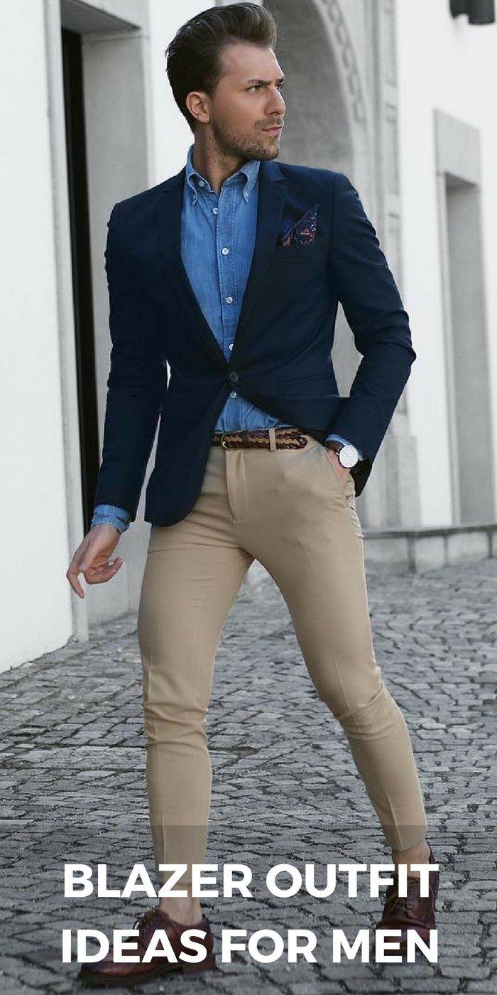 c8a7a12a1262c Blazer jacket outfit ideas for men  mensfashion  style  fashion Traje Azul  Hombre