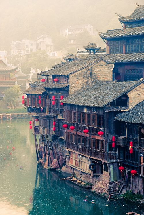 Fenghuang, Hunan, China, a peaceful 6am morning, (by Yves ANDRE)  http://www.flickr.com/photos/yvesandre/4056428005/sizes/l/in/set-72157625050608138/
