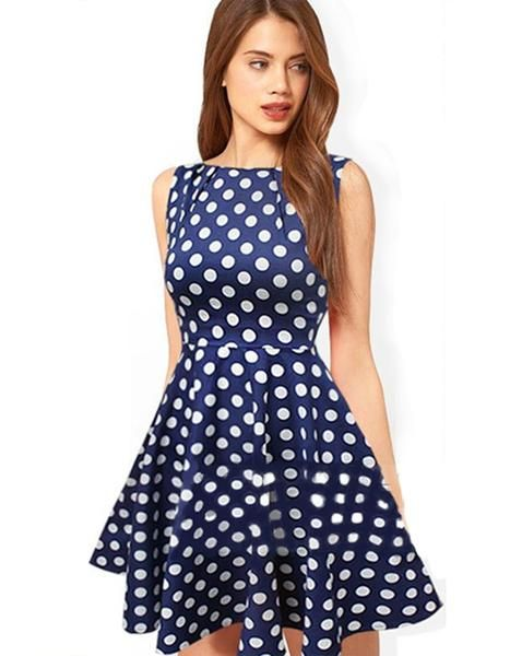 Dark Blue Casual Summer Dress....Free Watch Offer With This Dress.