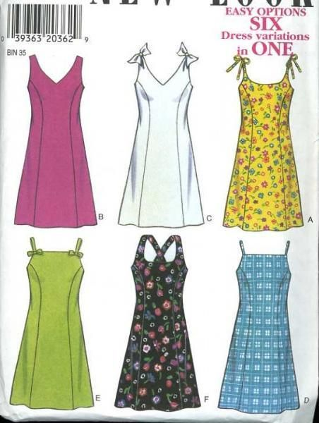 UnCut New Look 6631 Sewing Pattern Easy to Sew Summer Dresses Busts ...