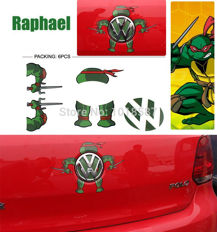 Find more stickers information about raphael teenage mutant ninja turtles for volkswagen car rear of the