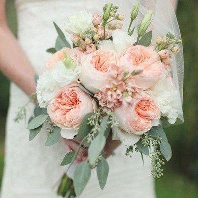 Букет свадебный букет лизиантуса цветы