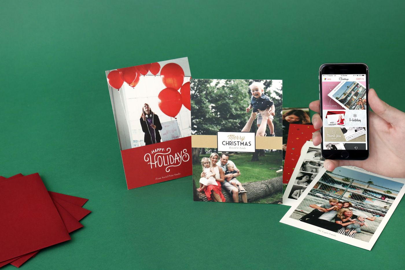 How To Make Custom Greeting Cards From Your Photos Social Print Studio Custom Greeting Cards Simple Holiday Gifts Beautiful Greeting Cards