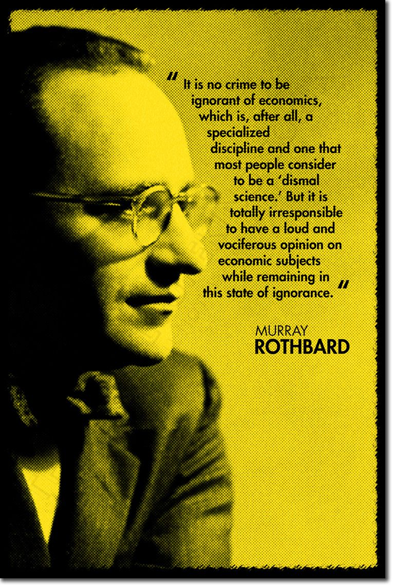 Murray Rothbard. Just finished Anatomy of the State, incredible book ...