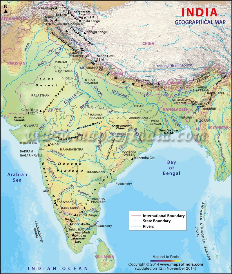 Geography Of India Indian River Map Geography Map India Map