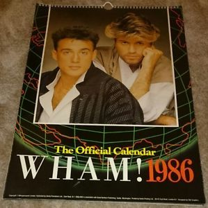Details About George Michael Wham 1986 Official Calendar George
