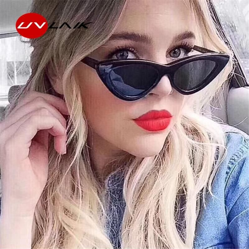 34f0333dbbd3 UVLAIK Fashion Cat Eye Sunglasses Women Brand Designer Vintage Retro Sun glasses  Female Fashion Cateyes Sunglass UV400 Shades