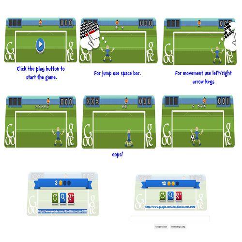 London 2012 Football Soccer Game Google Doodles London Football Soccer