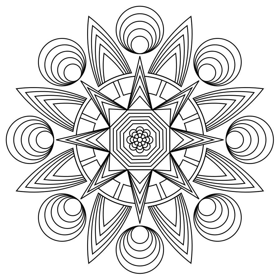 Print Mandala Coloring Pages Mandalas Mandalas Painting Mandalas Faciles