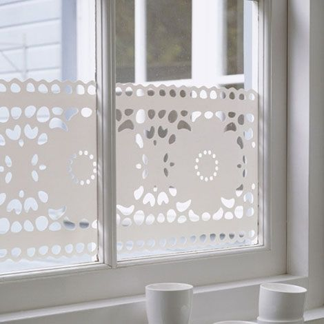 Window film lace from studio haikje window stickers for Decorative windows for bathrooms