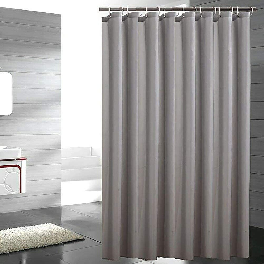 Amazon Com Galilery Mildew Resistant Fabric Shower Curtain Waterproof Water Repellent Antibacterial For Bathroom 72x84 Inch Grey Home Kitchen