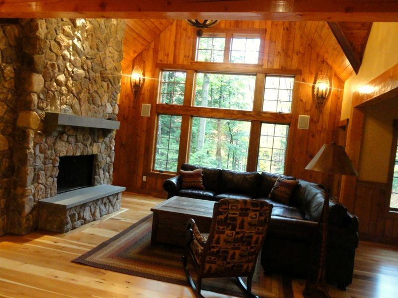 Tongue And Groove Walls Beside Fireplace Tongue And Groove Walls Tongue And Groove Panelling Great Rooms
