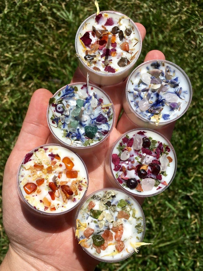 Chakra healing blend pouch with dried herbs hand crafted flowers /& oils