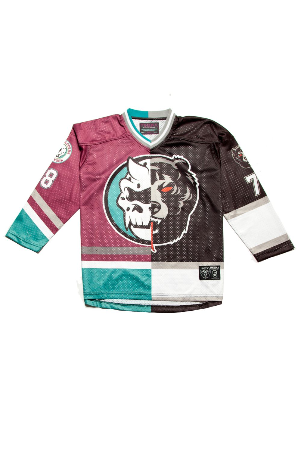 42.50 - Split Icons Hockey Jersey (Burgundy Black)  25f50da90