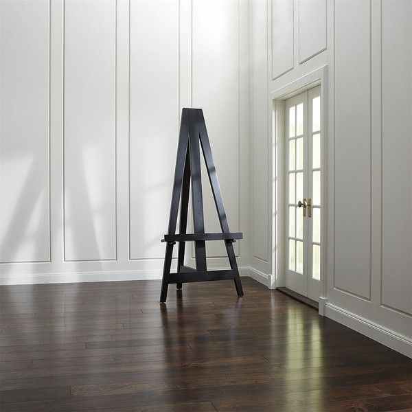 Crate & Barrel Large Wood Easel ($299) liked on Polyvore ... on Easel Decorating Ideas  id=75371